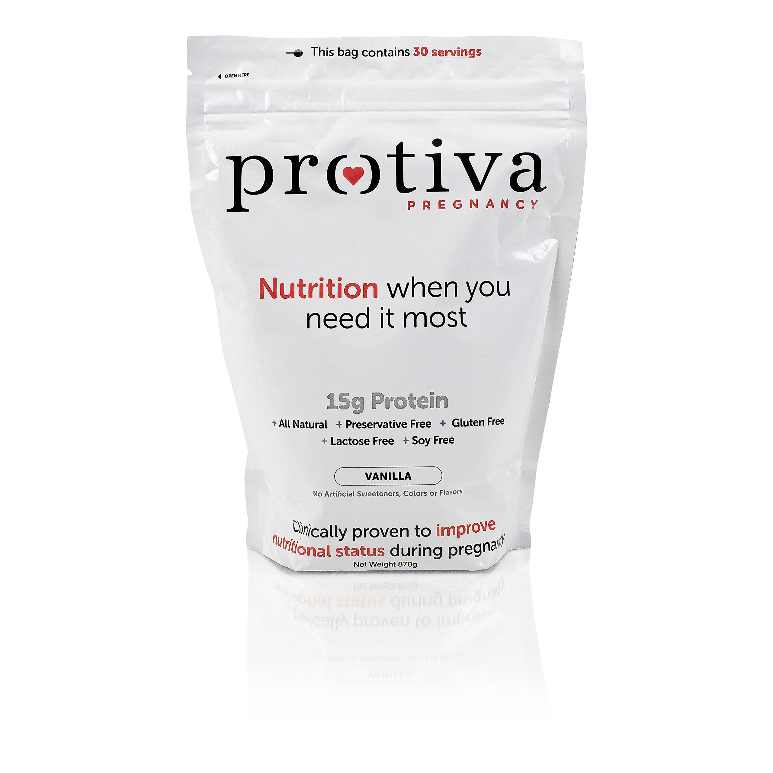 Protiva Pregnancy Collagen Protein Powder, 30 Servings, 2lbg Bag, Clinically Proven Safe, All Natural, Non-GMO, Allergen, Gluten, Dairy and Soy Free, No Artificial Sweeteners, Improve Stretch Marks