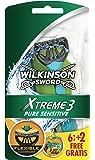 Wilkinson Xtreme 3 Pure Sensitive - Lamette da barba, confezione da 8pezzi