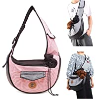 MQ Small Dog Cat Sling Carriers Hands Free Pet Puppy Reversible Pet Papoose Bag for Puppy, Small Dogs, and Cats for Outdoor Travel (Gray)