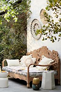 Outdoor loveseat Hand Carved daybed, Hand Carved, Bohemian,Artistic Bed, Outdoor daybed, Wooden Hand Carved - HIBASHI
