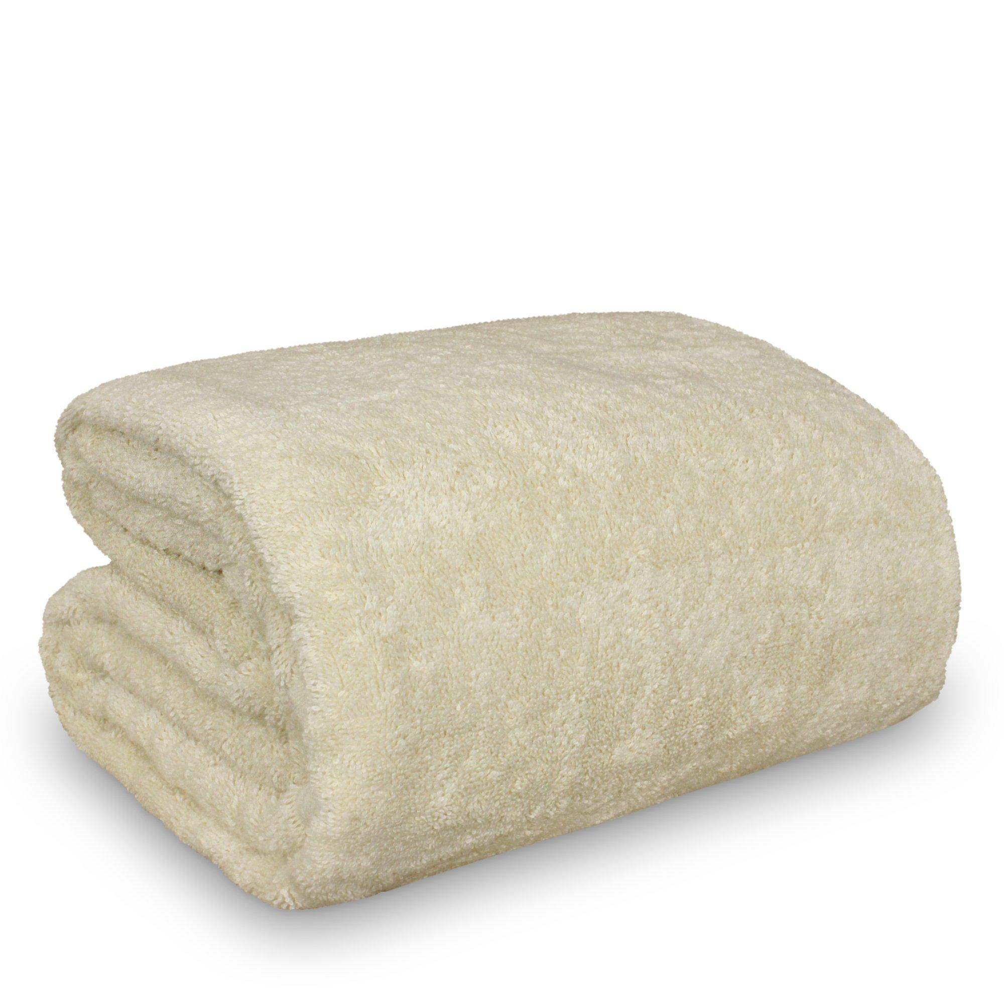 Luxury Hotel & Spa Towel Turkish Cotton … (Oversized Bath Sheet 40''x80'', Beige)