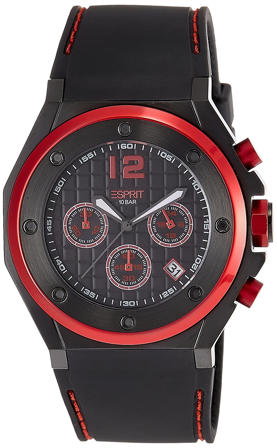 ferrari watch quartz analogue watches mens co dp silicone display and classic uk scuderia amazon red strap