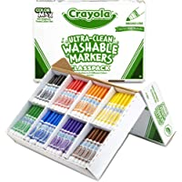 Crayola Broad Line Washable Markers, Classpack Bulk Markers, 200 Count - BIN588200