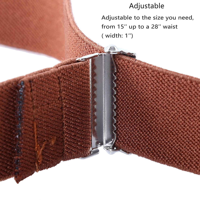 Big Elastic Stretch Belt with Easy Magnetic Buckle for 2-15 Years Boys Girls 4PCS Kids Boys Adjustable Magnetic Belt