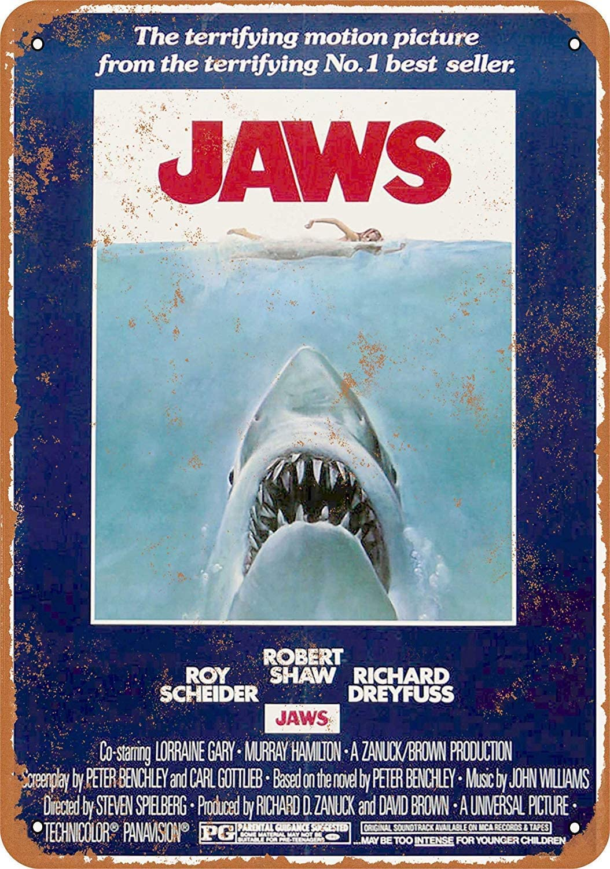 SmartCows 8 x 12 Metal Sign - Jaws Movie Vintage Retro Wall Decor Home Decor