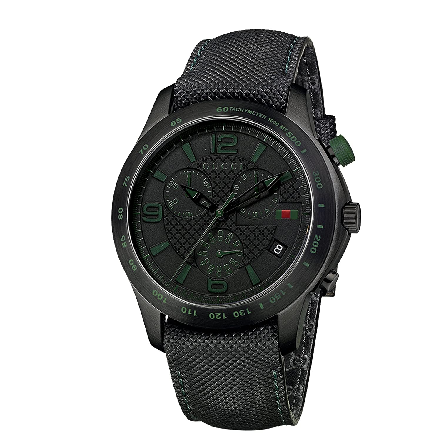 ecec389ed56 Gucci Men s YA126225 G-Timeless Chronograph Black IP Techno Leather Watch   Gucci  Amazon.ca  Watches