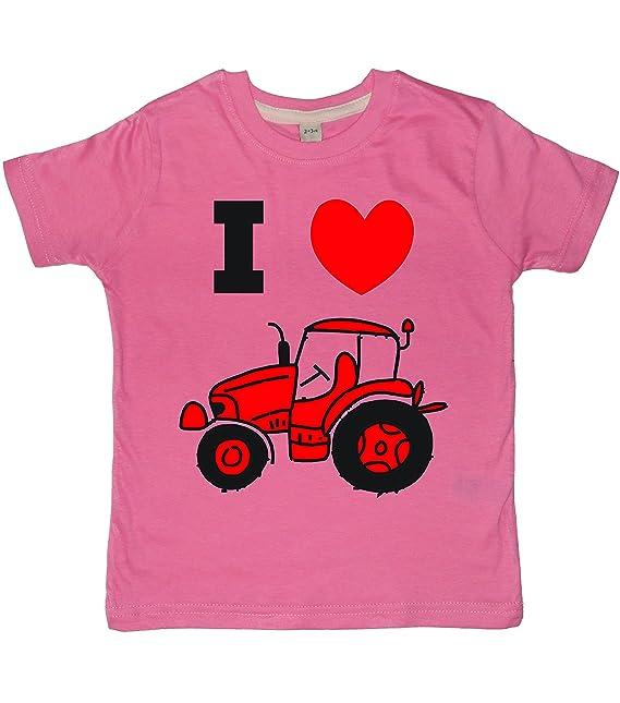 Edward Sinclair I Love (2 Diseño de) Tractores Para Ropa de Niños T- Camiseta de Manga Corta de Disponible EN Varios Colores: Amazon.es: Ropa y accesorios