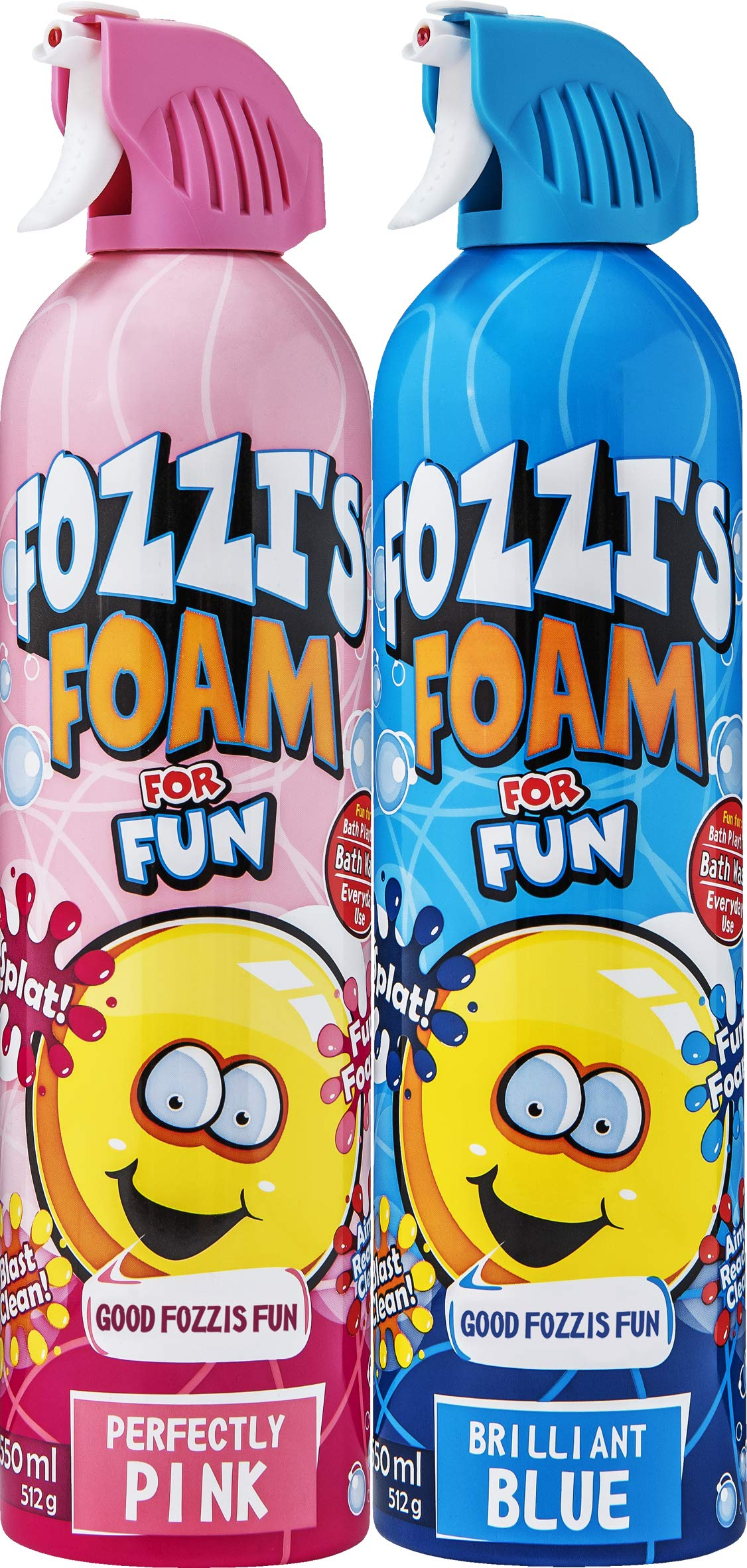 FOZZI's Foam Brilliant Blue & Perfectly Pink Soap ,Good Clean Fun 2 x 600ml by FOZZI's