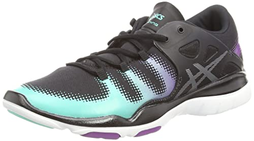 Asics Gel-Fit Vida, Scarpe da Corsa da Donna, Nero (Black/Silver/Aqua Mint 9093), 6.5 UK