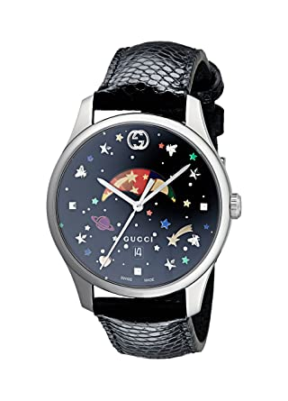 f8bbea229d9 Amazon.com  Gucci G-Timeless Black with Stars and Planet Motifs Dial Ladies  Watch YA1264045  Watches
