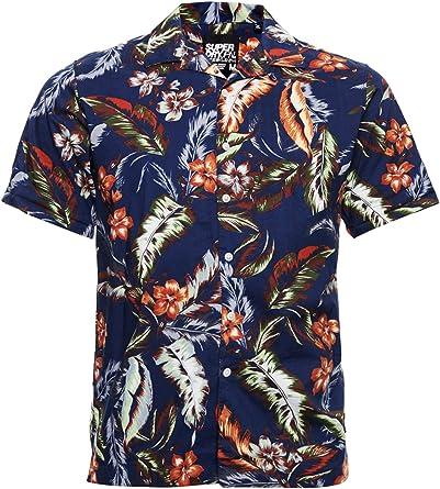 Superdry Hombre Camisa Hawaiian de Corte Cuadrado y Manga Corta: Amazon.es: Ropa y accesorios