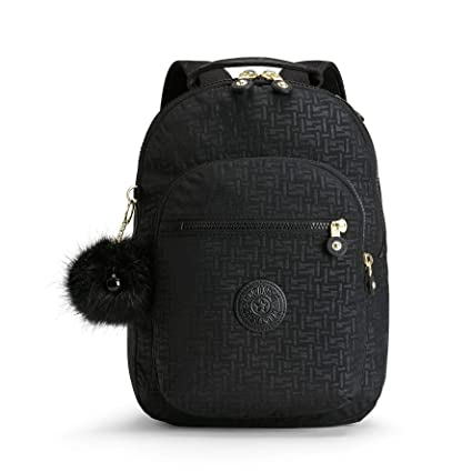 1624d19711 Kipling CLAS SEOUL S School Backpack, 34 cm, 10 liters, Black (Black Pylon  Emb): Amazon.co.uk: Luggage