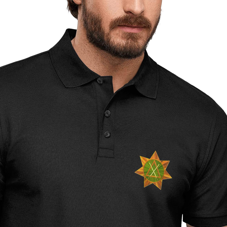 WJINX Council of Knight Masons Mens Polo Shirt Office Button Down T-Shirt