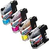 OFFICE-Partner Premium 10er multiPack kompatible XL Druckerpatronen zu Brother LC-121 LC-123 4x schwarz + je 2x cyan magenta gelb
