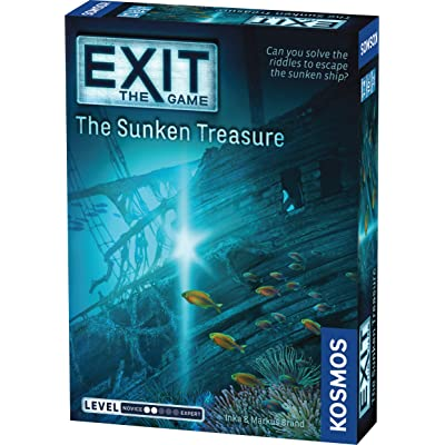 Exit: The Sunken Treasure | Exit: The Game - A Kosmos Game | Family-Friendly, Card-Based at-Home Escape Room Experience for 1 to 4 Players, Ages 10+: Toys & Games