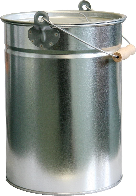 Kamino-Flam 333257 Cubo de Ceniza, Metal, Plata, 25x25x33 cm