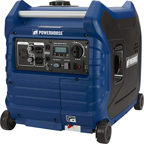 Powerhorse Inverter Generator – 3500 Surge Watts, 3000 Rated Watts, Electric Start, EPA and CARB Compliant, Model Number LC3500i