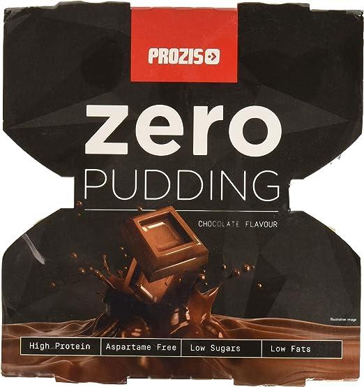 Prozis Zero Pudding, Sabor a Chocolate, Rico en Proteínas y Bajo Contenido de Carbohidratos y Azúcares - 4 x 125g