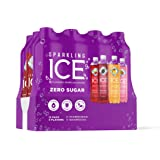 Sparkling Ice Purple Variety Pack, 17 fl oz, 12 count (Black Raspberry, Cherry Limeade, Orange Mango, Kiwi Strawberry)