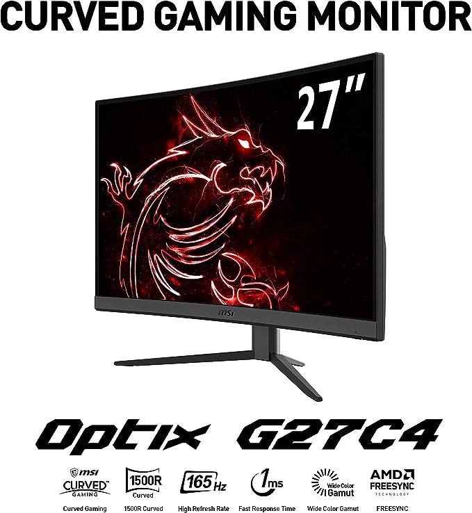 MSI Optix G27C4 - Monitor Gaming Curvo de 27