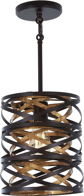 Minka Lavery Unique Pendant Ceiling Lighting 4670-111 Vortic Flow, 1-Light 60 Watts, Dark Bronze