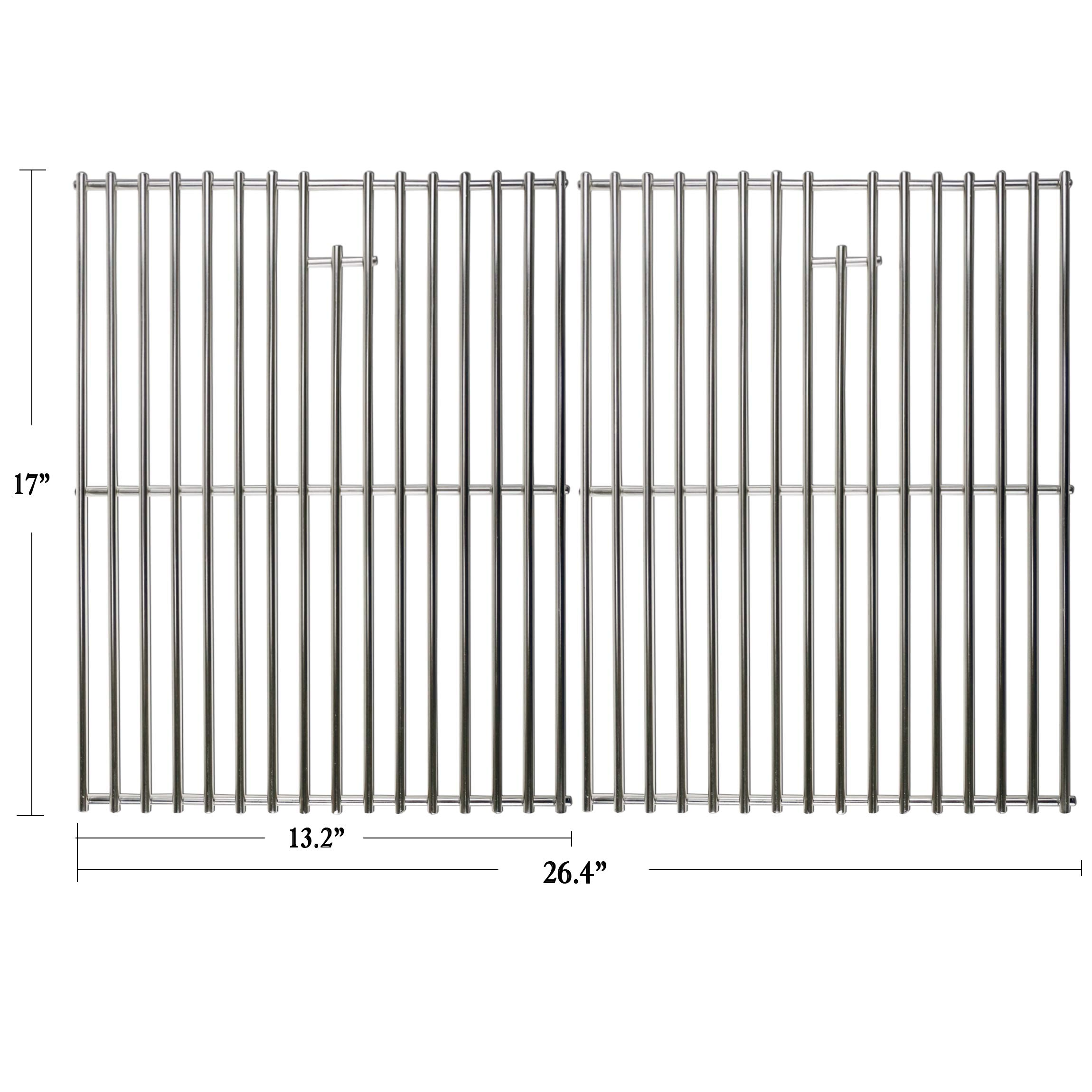 Hisencn 17 inch Grill Cooking Grates Replacement Parts for Home Depot Nexgrill 720-0830H, 720-0830D, Nexgrill 720-0783E, 720-0783C, Kenmore, Uniflame Gas Grils, 17'' Stainless Steel Cooking Grids by Hisencn