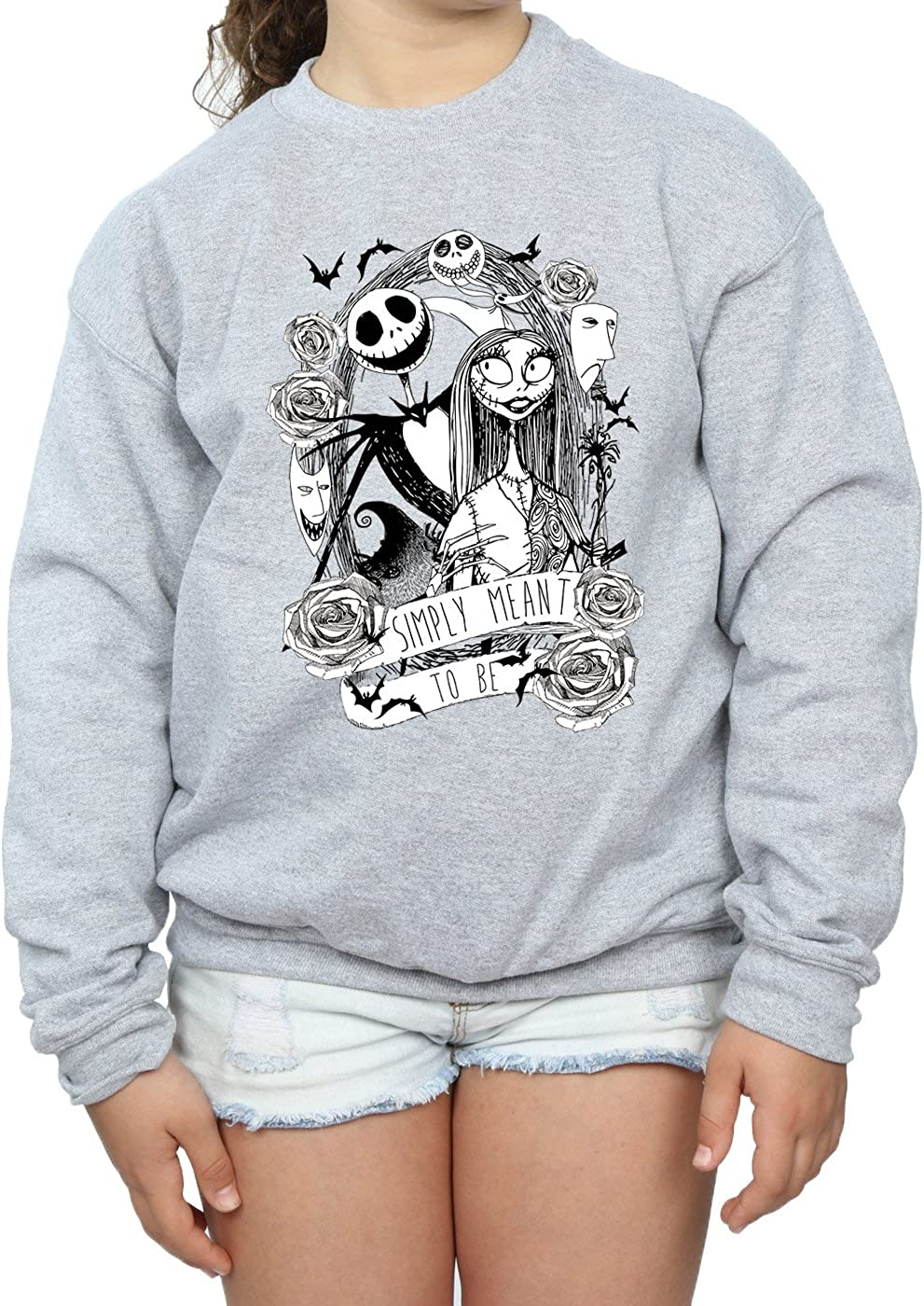 Disney M/ädchen Nightmare Before Christmas Simply Meant To Be Sweatshirt