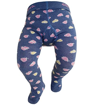 EveryKid Ewers Mädchenstrumpfhose Strumpfhose Markenstrumpfhose Kleinkind Baby mit Marienkäfer für Kinder (EW-905002-S17-MA2)
