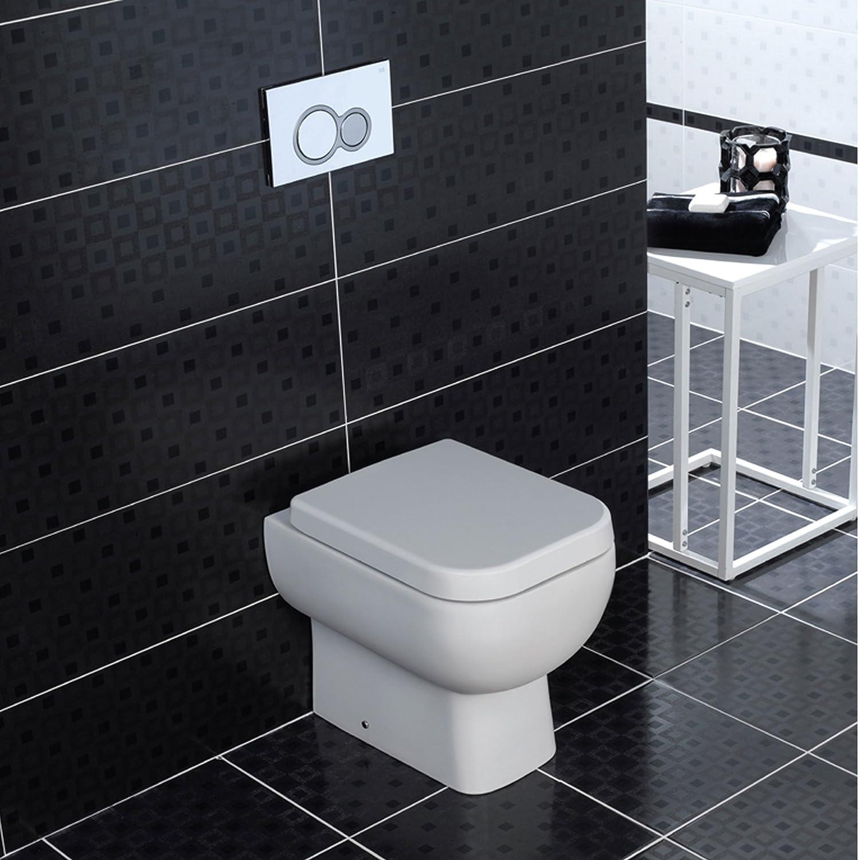 Rak Series 600 White Back to Wall BTW WC Pan Toilet with Soft Close Seat Rak Ceramics