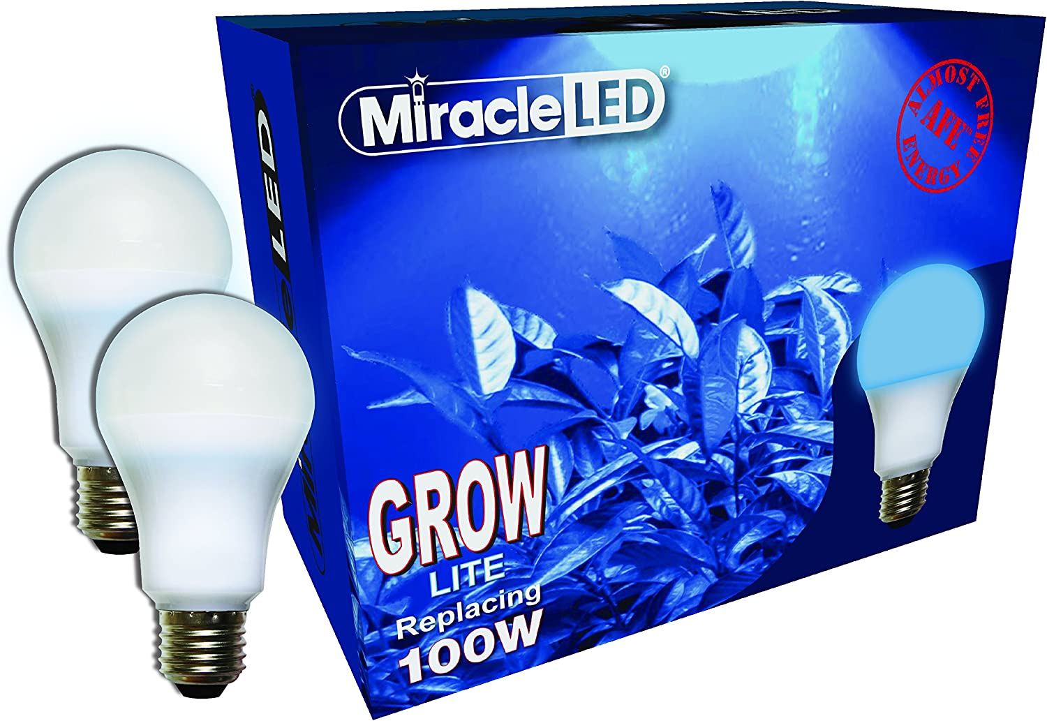 Miracle LED Almost Free Energy 100W Growth Starter Blue LED Grow Lite - Blue Light for Seed Starting and Strong Plant Stems in DIY Horticulture, Hydroponics, and Indoor Gardens (604299) 2Pack