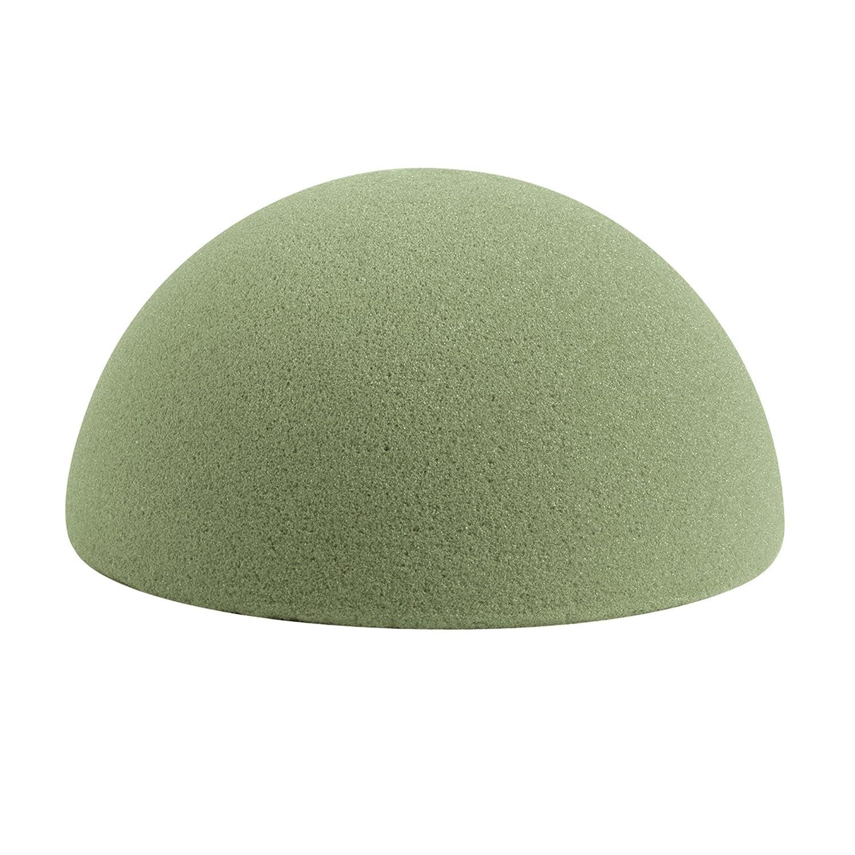 FloraCraft Floral Dry Foam Half Ball 7.8 Inch Green FOBA8HBS/4/3