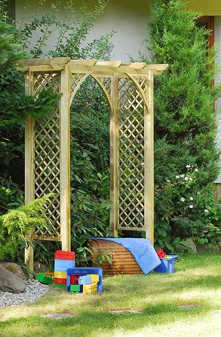 Pergola clásica. Rosas fichas de madera de abeto para el jardín ...