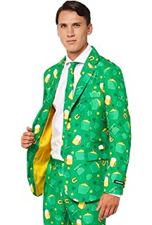 0062a263a Suitmeister Patrick Clover Suit with Shamrock Print for Men Coming with  Green Pants, Jacket,