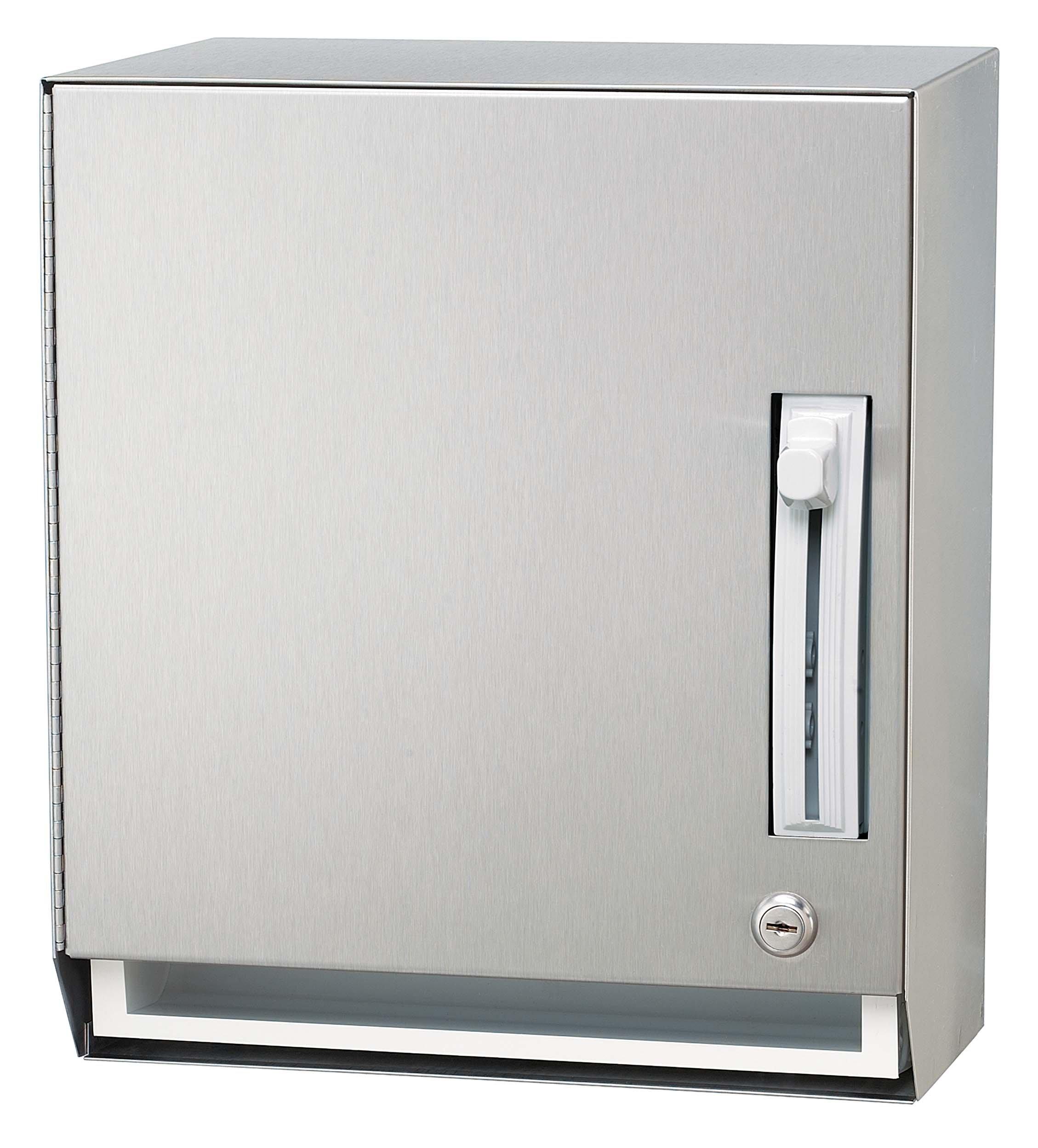 Bradley 2483-000000 Stainless Steel Surface Mounted Towel Dispenser, 12-1/4'' Width x 15'' Height x 10-3/8'' Depth