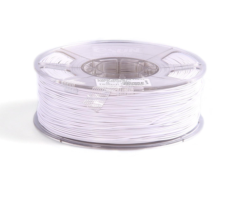 White ABS175W1 eSUN 1.75mm White ABS 3D Printer filament 1kg Spool 2.2lbs