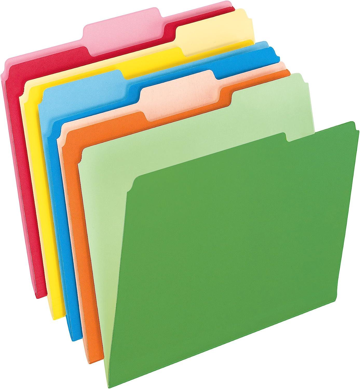 Colored file folders.