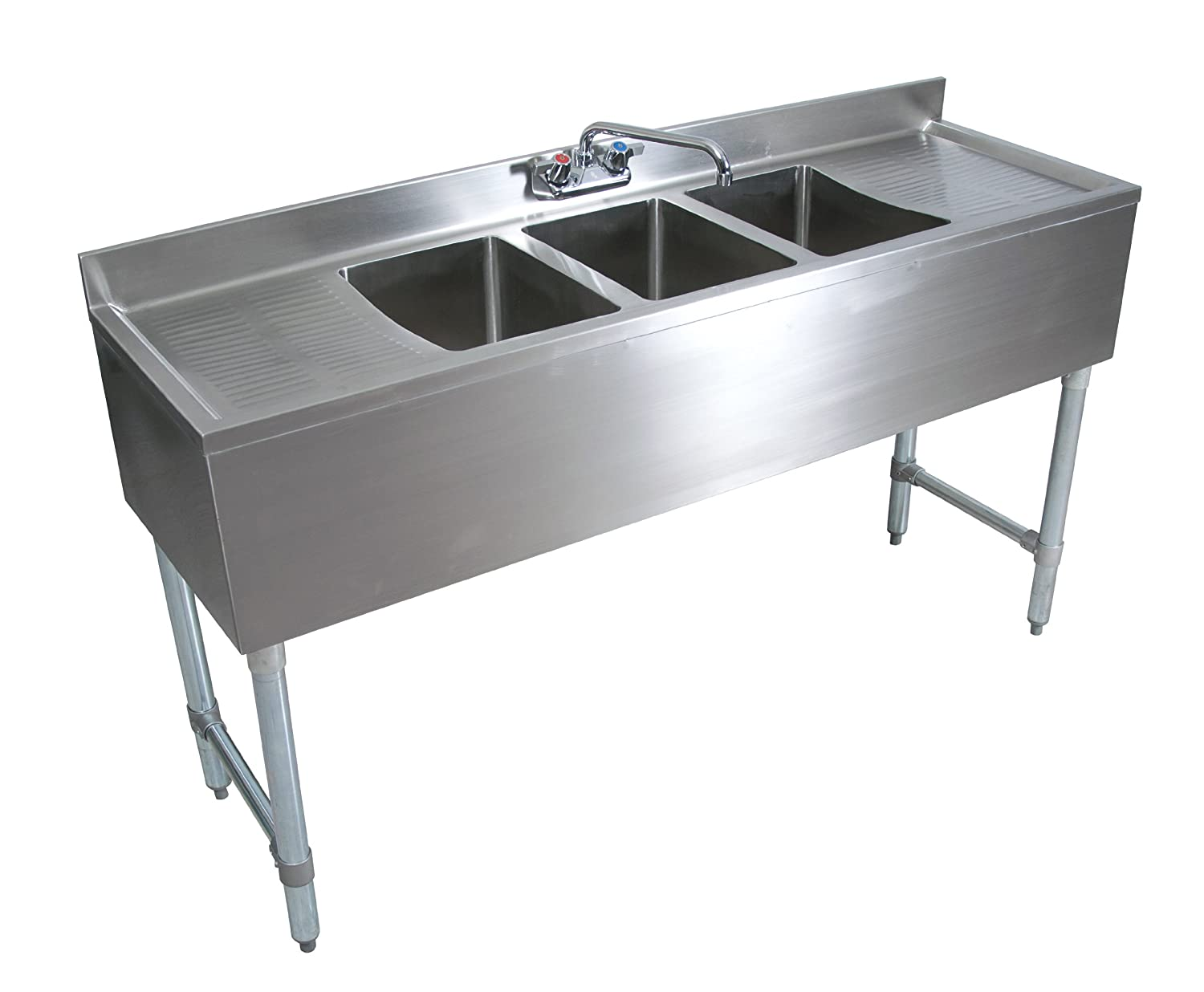 Amazon.com: John Boos EUB3S60-2D Stainless Steel Underbar Sink, 3 ...
