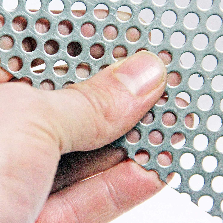 300 x 420mm Sheet 10mm Hole-15mm Pitch-2mm Thickness A3 Sheet Aluminium-Perforated Mesh Sheet-