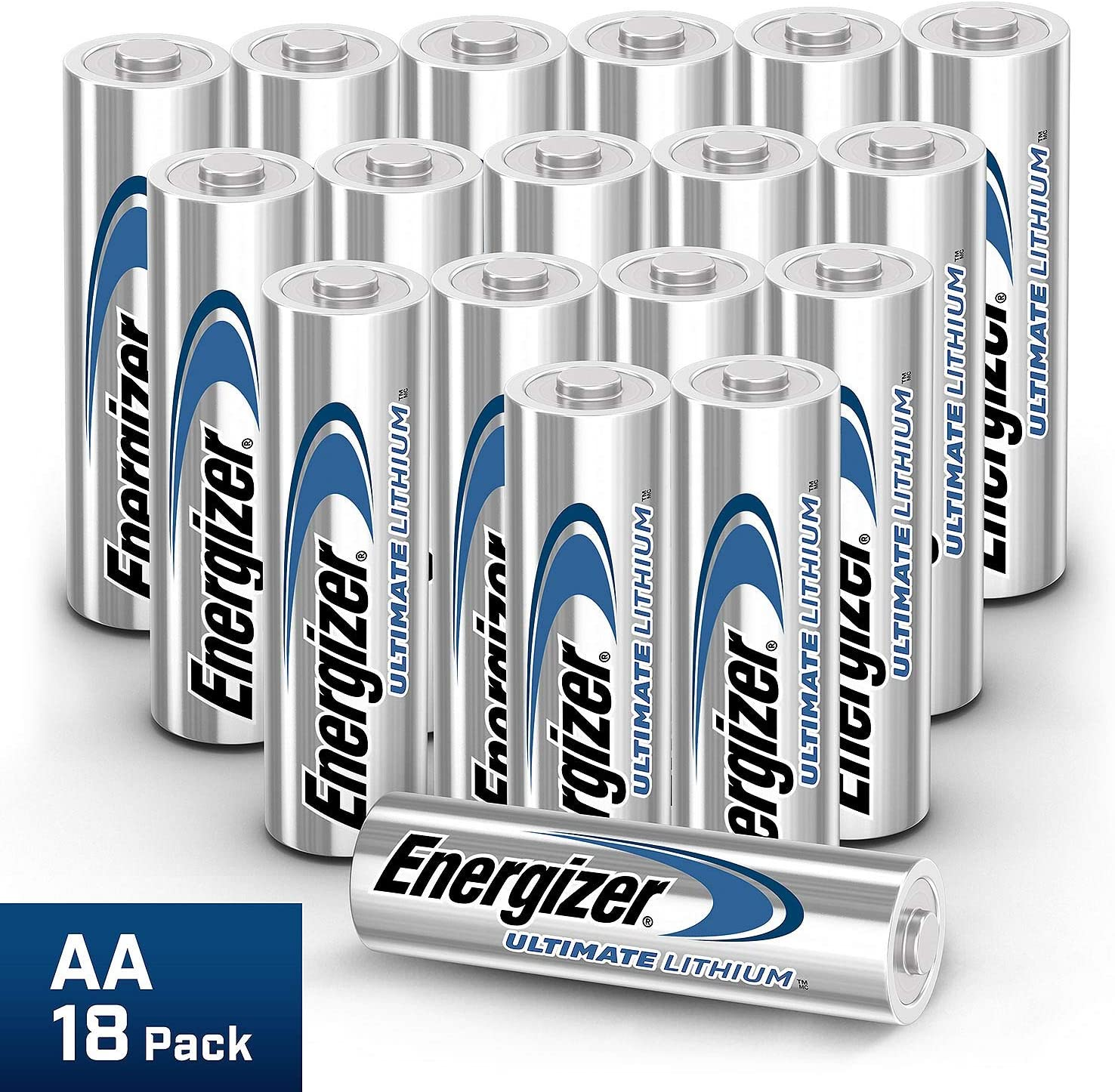 Amazon Com Energizer Ultimate Lithium Aa Batteries 18 Pack Health Personal Care