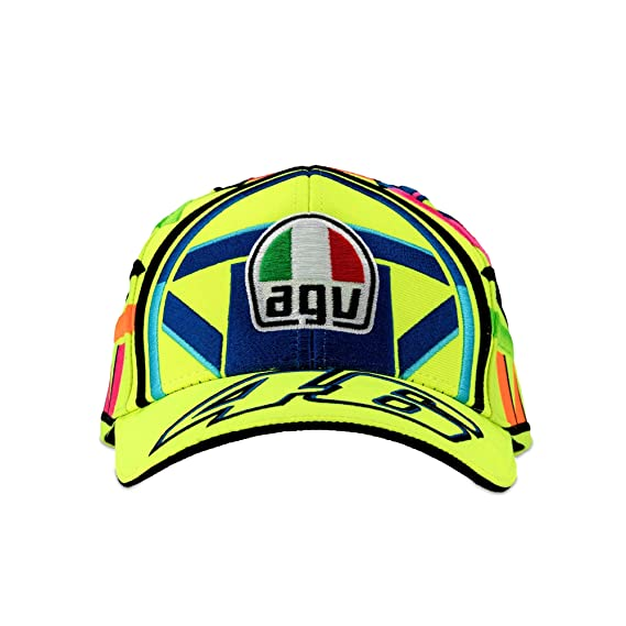 Valentino Rossi VR46 Helmet Cap 2018  Amazon.co.uk  Clothing f9fc08b84654