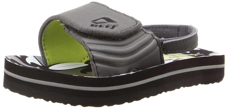 Reef Grom Ahi Slide Sandal (Little Kid/Big Kid) Reef Kids Footwear GROM AHI SLIDE - K