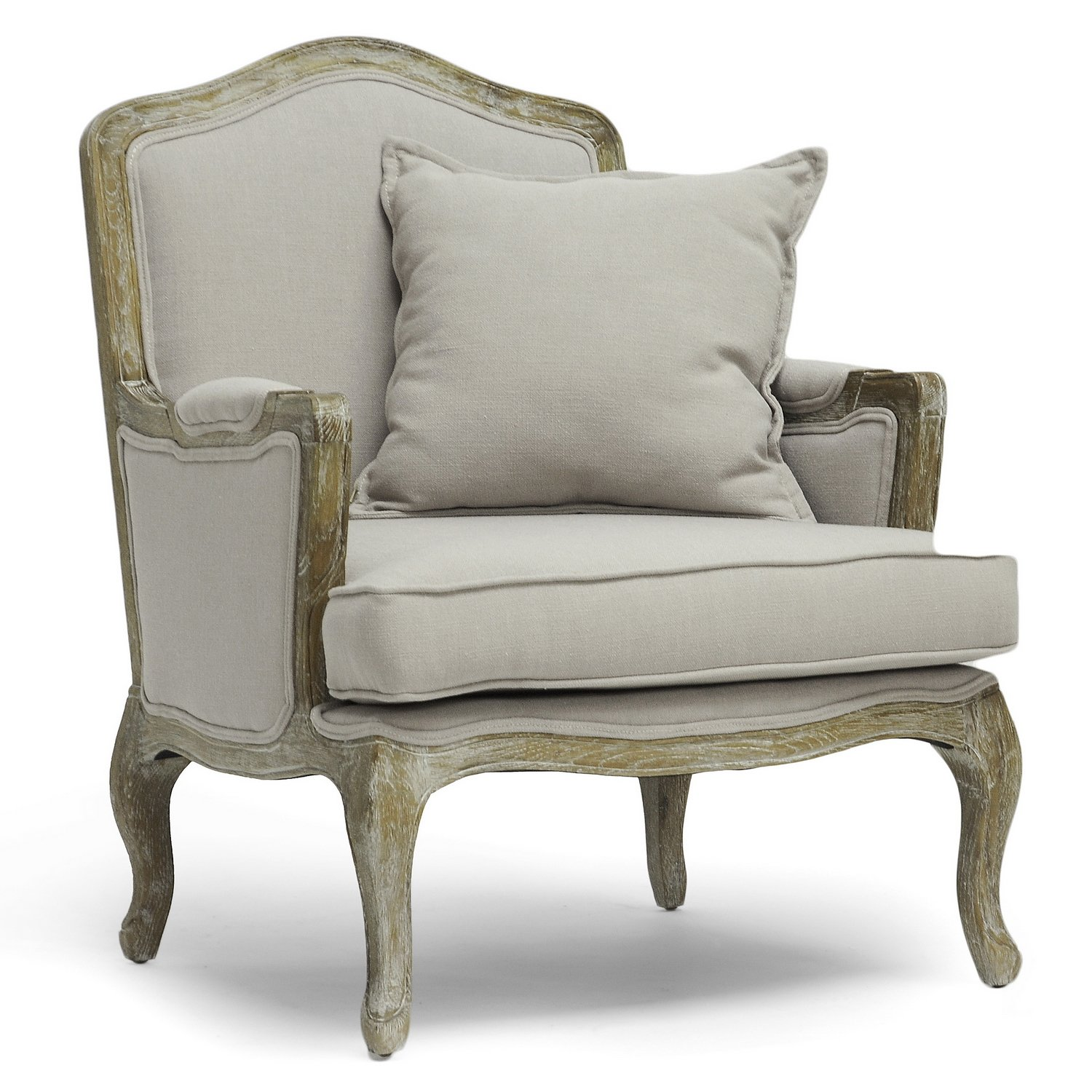 Amazon.com   Baxton Studio Constanza Classic Antiqued French Accent Chair    Chairs