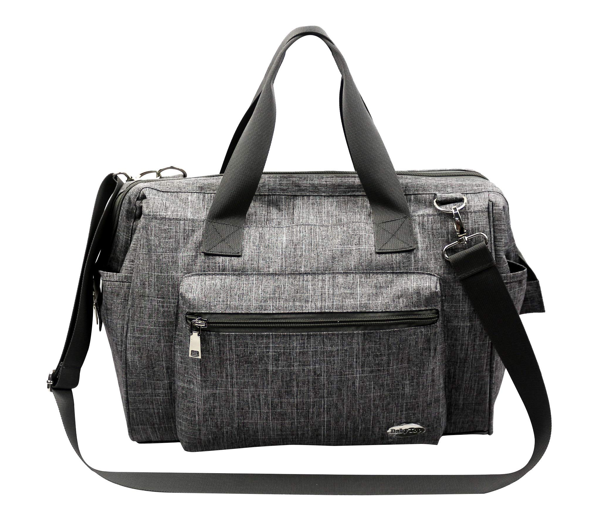 Mummy Bag Diaper Bag Large Capacity Diaper Handbag Fashion mom and dad Convertible Travel Baby Bag boy and Girl with Replacement pad Multi-Function Insulated Pocket(Grey) by Baby top