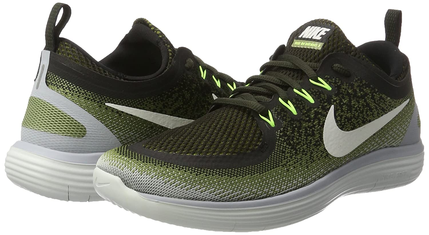 NIKE Men's Free RN Distance 2 Running Shoe B01N4VPCUY 13 D(M) US|Legion Green / White - Palm Green