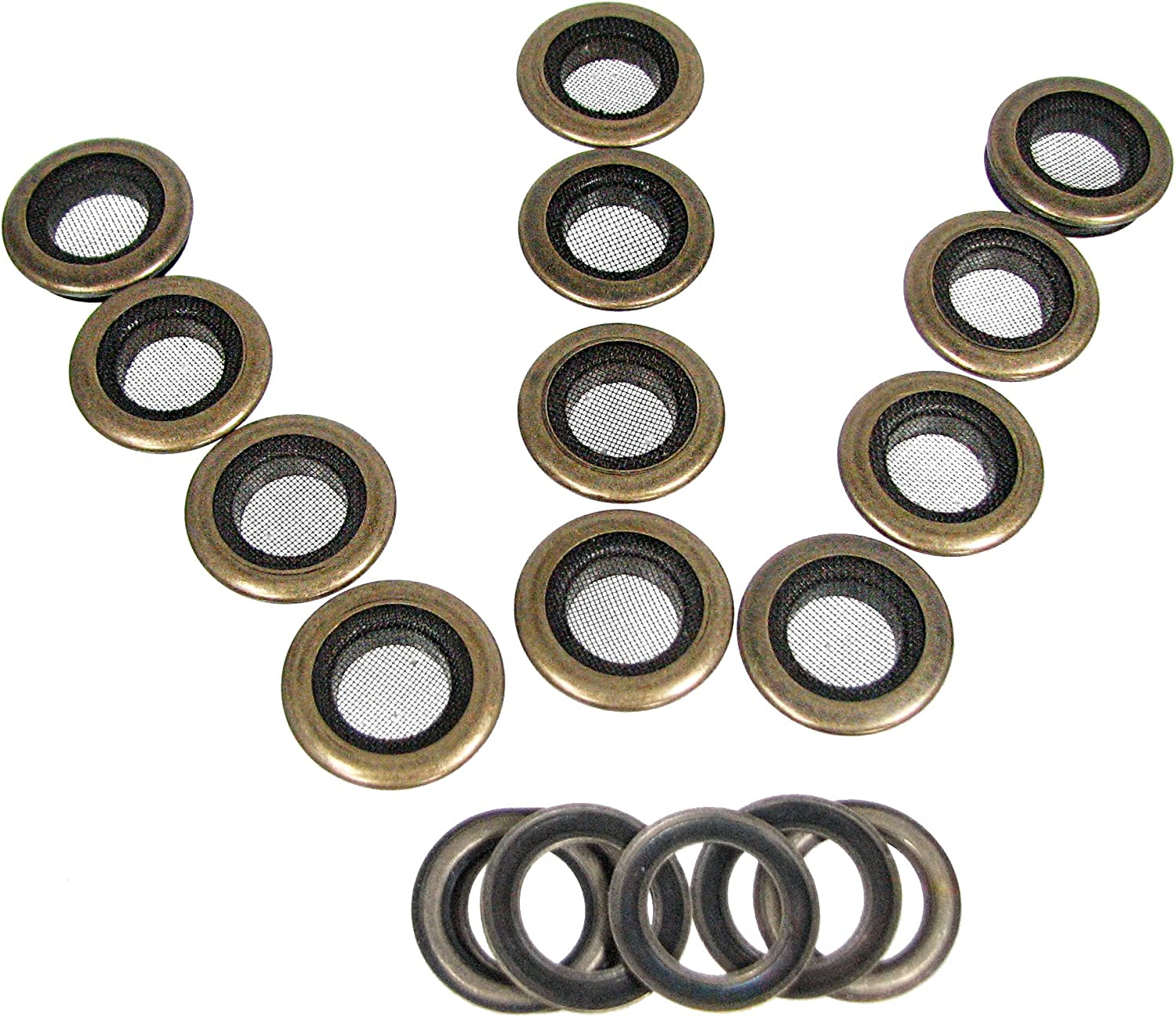 Oblong Grommet with Washer 1in Solid Brass Nickel