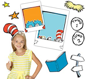 Eureka's Back to School Dr. Seuss Cat in the Hat Selfie Classroom Decorations, 15pc.