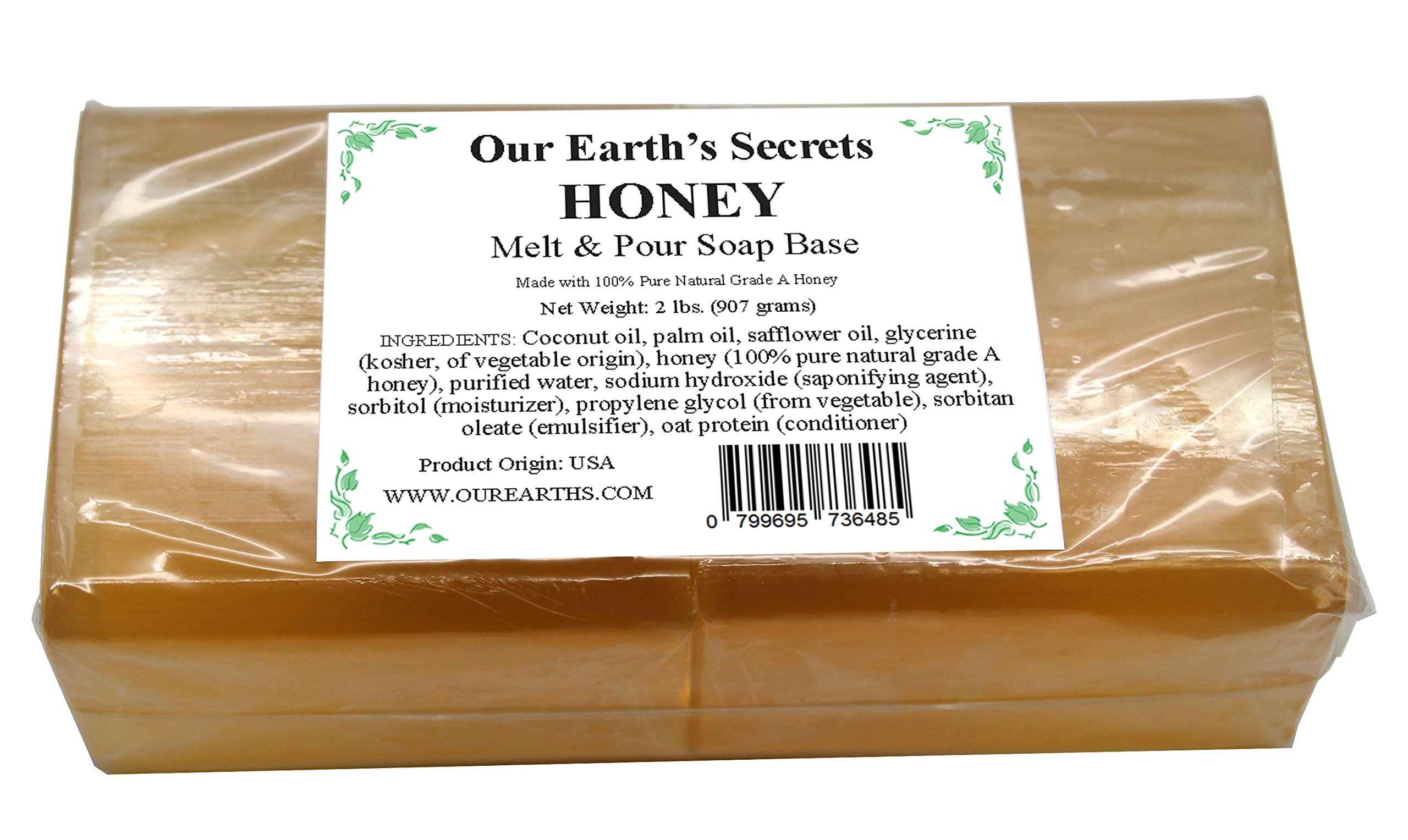 Honey - 2 Lbs Melt and Pour Soap Base - Our Earth's Secrets by Our Earth's Secrets