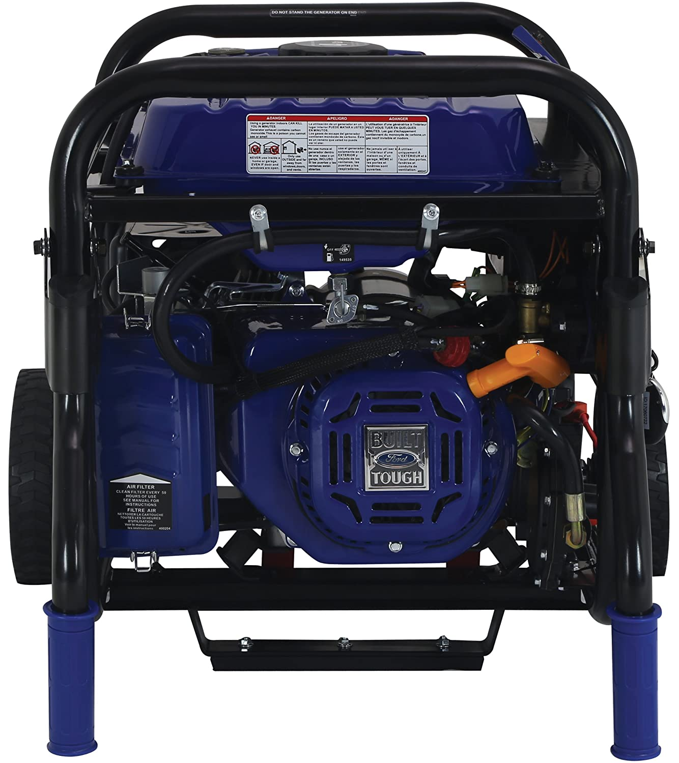 Ford 5 250w Dual Fuel Portable Generator With Switch Walker Mower Wiring Diagram For Charging Unit Go Technology And Remote Start Fg5250pbr Garden Outdoor