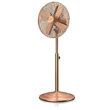 Brandson – Ventilador de pie con Design Retro en cobre | 3 diferentes niveles de velocidad