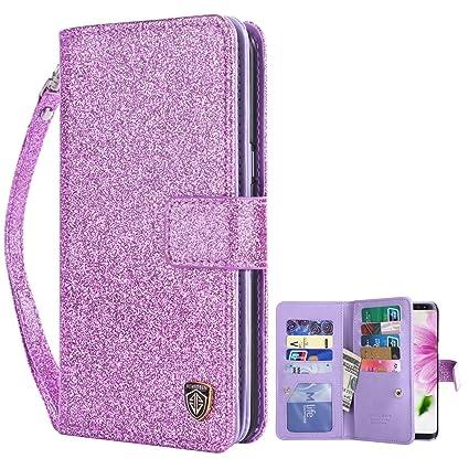 samsung s8 phone case glitter wallet